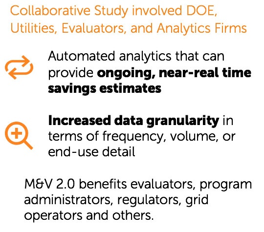 Collaborative Study involved DOE, Utilities, Evaluators, and Analytic Firms