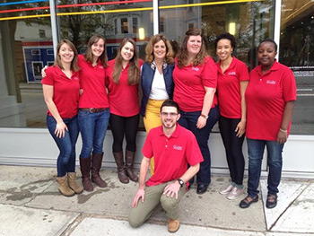 Clark University Students (Photo credit: National Grid Twitter)