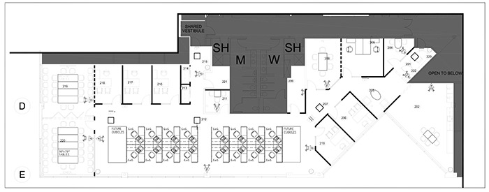 NEEP office blueprint with furniture