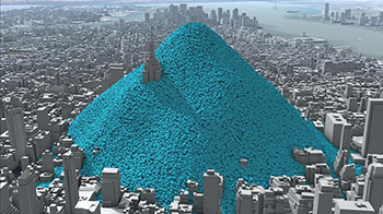 One Day of New York CO2 Emissions