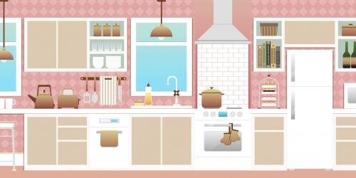 """""kitchen with appliances"