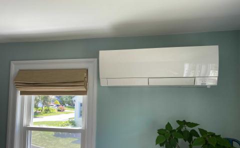 """""""""""air source heat pump in living room"""