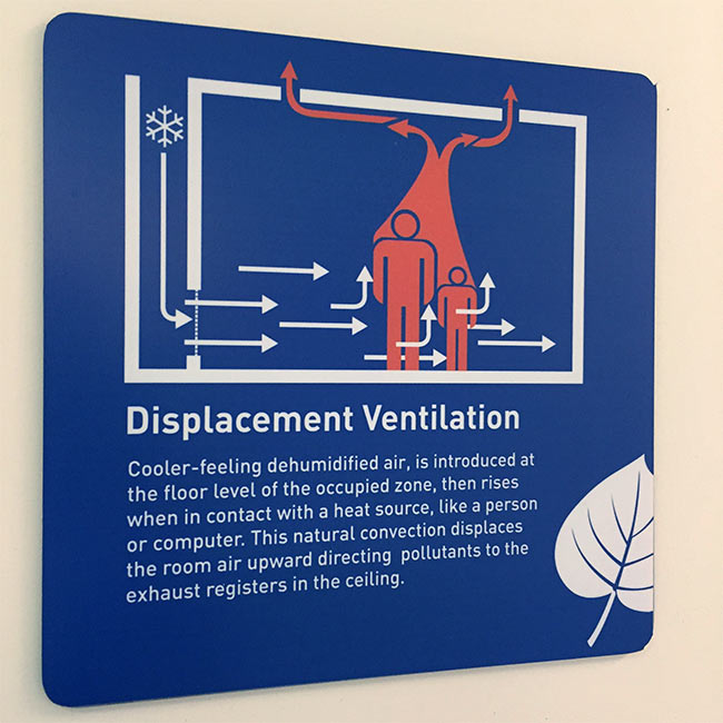 Displacement Ventilation Signage - Bresnahan School Newburyport High Performance School