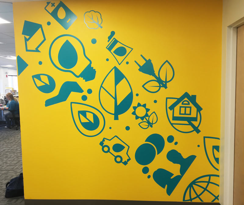 NEEP yellow wall mural finished